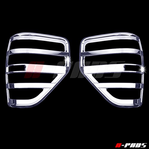A-PADS 2 Chrome Tail Light Covers For Ford F150 2009-2014 – Chrome Bezel Lights Cover Pair