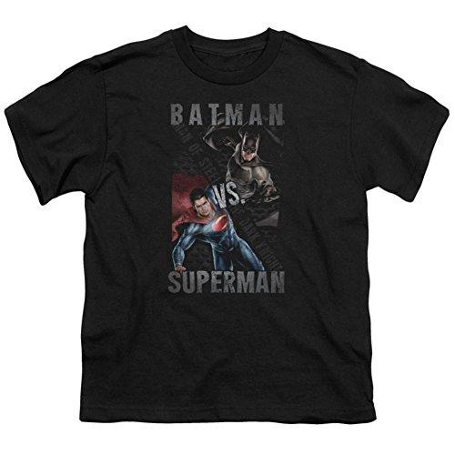 Youth: Batman vs. Superman- Split Heroes Kids T-Shirt Size YS