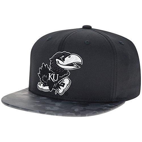 NCAA Kansas Jayhawks Men's Flat-Brim Snapback Cap, One Size, (Licensed Ncaa College Cap Hat)