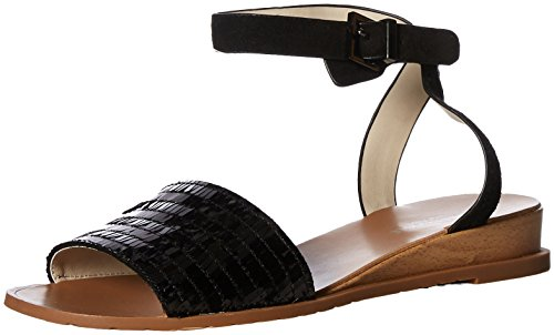 Sandal Women's Kenneth Jinny York Ankle Flat New Cole Strap Black qqR8APZ