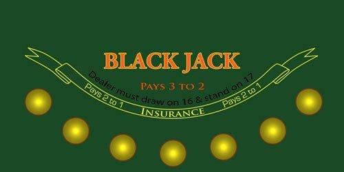 Blackjack Sublimination Felt Layout by Brybelly