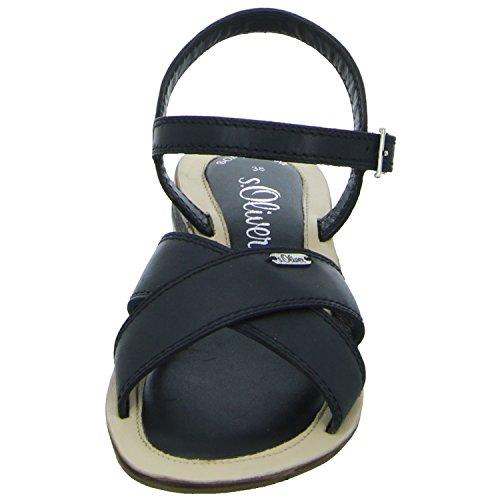 s.Oliver 5-28131-38 001 Damen Sandalette bis 30mm Absatz Schwarz (Schwarz)