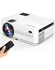 "MEGAWISE Mini Projector, 5000Lux Movie Projector, 1080P and 200"" Screen Supported L21 Video Projector, with 2xHDMI/2xUSB Ports, Compatible with TV Stick, Video Games, Smart Phone, HDMI,USB,VGA,AUX,AV"