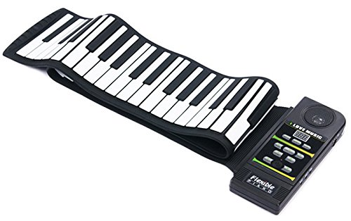 Tomsenn 88 Keys Professional Silicon rubber midi Flexible Roll up Electronic Piano Keyboard with louder speaker,for windows. by Tomsenn