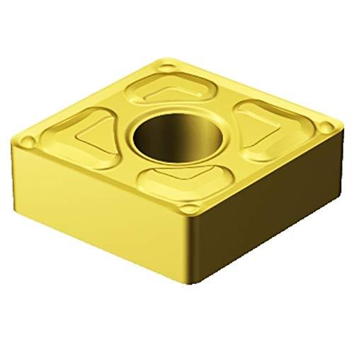 (Sandvik Coromant CNMG 432-XF 2015 T-Max P Insert for Turning, Carbide, Diamond 80 deg, Neutral Cut, 2015 Grade, Ti(C,N)+Al2O3+TiN (Pack of 10))
