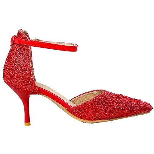 caviglia alla Cinturino Aiyoumei donna rosso q0UYf8x4