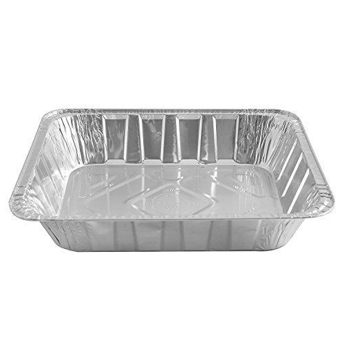 Jetfoil Aluminum Foil Steam Table Pans With Lids   Perfect for Catering, Party Supplies & Suitable for Broiling, Baking, Cakes and Pies - 9 x 13 Half size Deep   Pack of 30 by Jetfoil (Image #3)