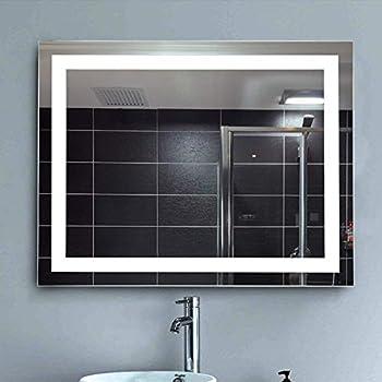 Amazon Com Bath Knot Square Wall Mounted Backlit Led Mirror