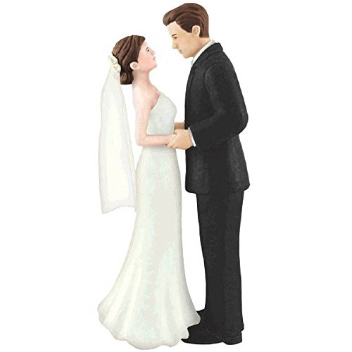 amscan Bride & Groom Cake Topper | Wedding and Engagement Party (Traditional Wedding Cake Toppers Bride And Groom)
