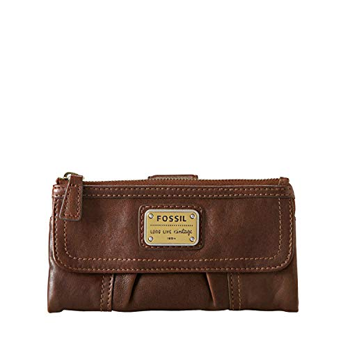 Fossil Women's Emory Leather Large Zip Wallet
