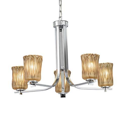 - Justice Design Group Lighting GLA-8440-16-AMBR-CROM Era Chandelier 27