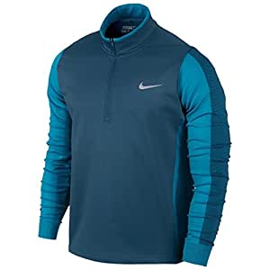 2015 Nike Therma-Fit Engineered Half-Zip Lightweight Mens Golf Jacket Blue Force XXL