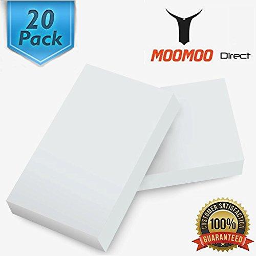 MOOMOO Large Magic Cleaning Eraser Sponge Melamine - 20 Pack