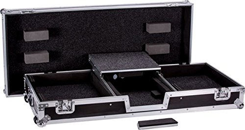 Top Quality Fly Drive Dj Coffin Case For Two Turntables In Battle Style Position Plus One Pioneer Djm900 Nexus Convenient Cable Raceway Beneath Logo Printed Top Board DEEJAY LED TBH2TTDJM9HWLT