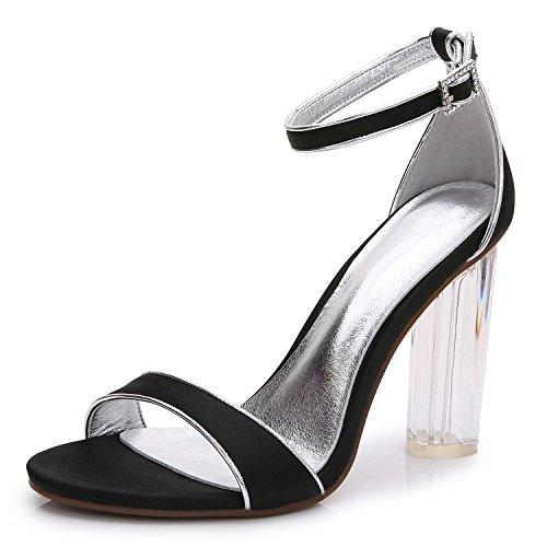 Medida 2615 Zapatos De Black Gran Profesionales Boda Tacones TamañO Zapatos Mujer Para Tardes Y shoes De Plataforma high De S 14 Rugosa Crystal Hechos Elegant Y a EwRqz4R