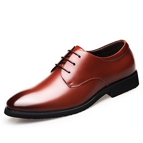 traspirante scarpe in pelle scarpe in Estate uomo da nero pelle giovani business WFL da uomo uomo casual Marrone scarpe da Inghilterra aIwYA
