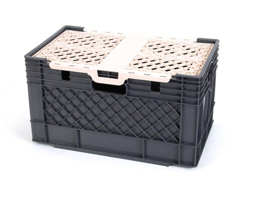 Silver King 25791 Milk Crate with Boxed - Silver Refrigerator King