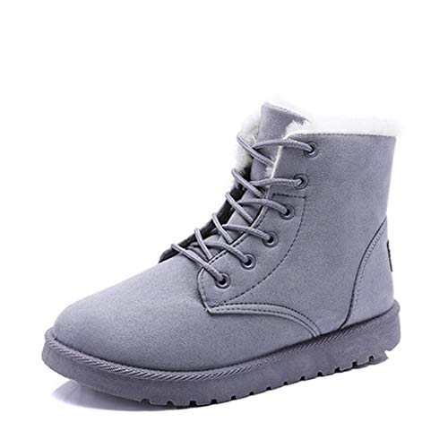 Fur Flat Platform Sneaker Shoes Plus Plush Winter Warm Women's Lace Up Snow Boots
