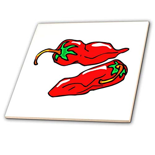 3dRose 3D Rose Two Chili Peppers Graphic Loose - Ceramic Tile, 12-inch (ct_175702_4),