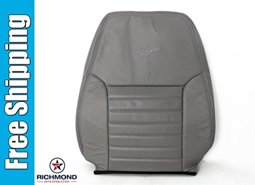 Richmond Auto Upholstery - Driver Side Lean Back Replacement Leather Seat Cover, Gray (Compatible with 2001 Ford Mustang GT 5-Speed) ()