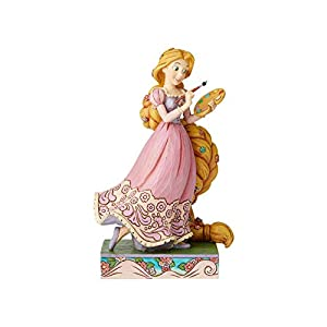 410Iaur3HnL. SS300 Enesco Disney Traditions by Jim Shore Tangled Princess Passion Rapunzel Figurine, 7 Inch, Multicolor,6002820
