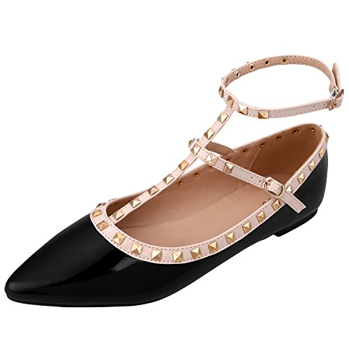 discount Women's Faux Suede Ballet Pointed Toe D'Orsay Flats for sale