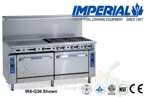 Imperial Commercial Restaurant Range 48'' With 2 Burner 36'' Griddle Oven/Cabinet Nat Gas Ir-2-G36-C-Xb by Imperial