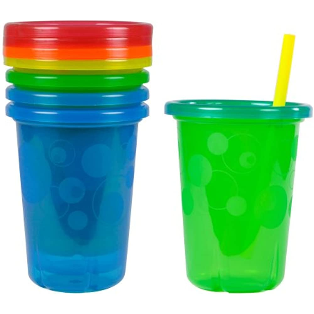 Colors May Vary 4pk FREE SHIPPING Take Toss Spill-Proof Straw Cups 10oz