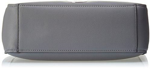 Calvin Klein Olivia Large Tote - Bolso de asas de Piel para mujer Multicolore (Steel Grey/ Mineral)