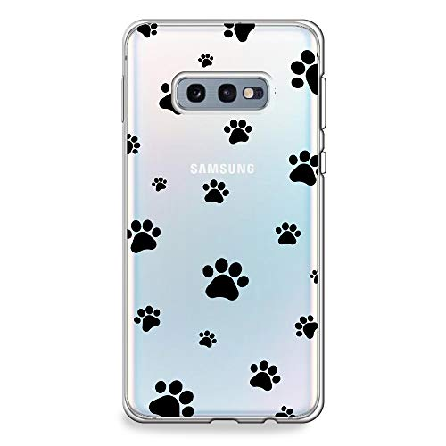 CasesByLorraine Samsung Galaxy S10e Case, Cute Pet Paw Prints Pattern Clear Transparent Case Flexible TPU Soft Gel Protective Cover for Samsung S10e (P84)