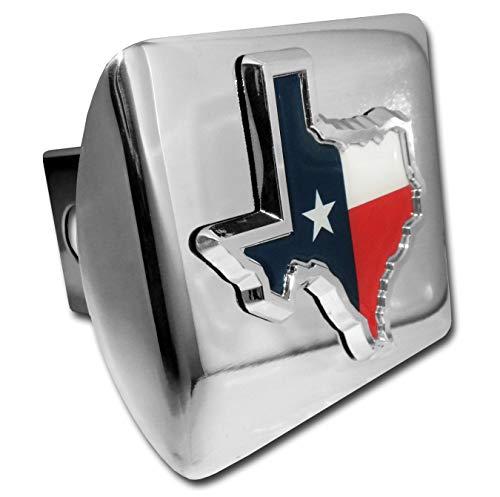 (Elektroplate State of Texas Colored Flag Chrome Metal Hitch)