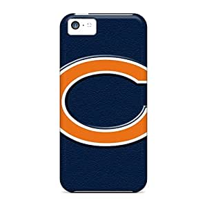 IanJoeyPatricia Iphone 5c Protector Hard Cell-phone Case Unique Design Lifelike Chicago Bears Pattern [otE988FJFP]