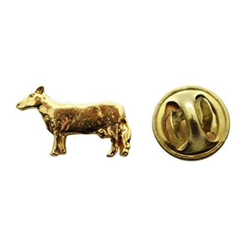 Cow Mini Pin ~ 24K Gold ~ Miniature Lapel Pin ~ Sarah's Treats & (Cow Lapel Pin)
