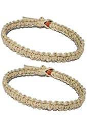 Two Natural Hemp Surfer Hawaiian Style Bracelet Anklet - Handmade- ( A set of 2) ...
