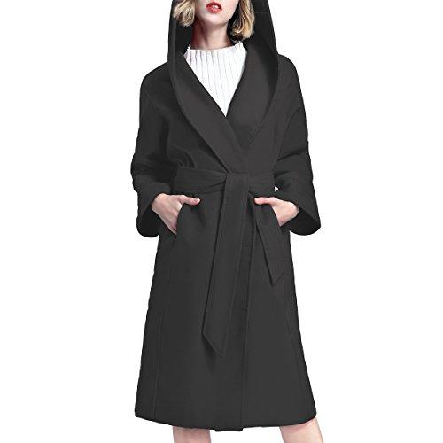 mujer Larga para Abrigo Step negro Y Manga qXP4wxUZ