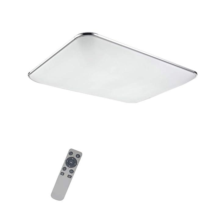12-64W LED Deckenleuchte Badleuchte Küche Deckenlampe Wohnzimmer Silber Flur