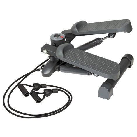 Impex Marcy Durable, Ergonomic and Portable with Wide Non-slip Pedals Mini Stepper with Bands