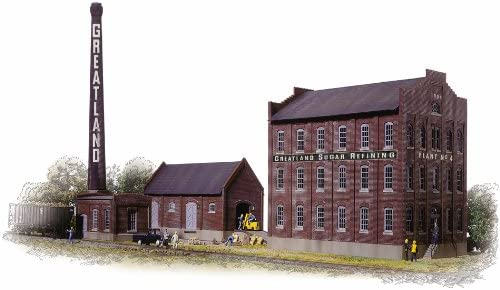Walthers Cornerstone Series174 HO Scale Greatland Sugar Refining Includes Mill Building Boilerhouse /& Smokestack Warehouse