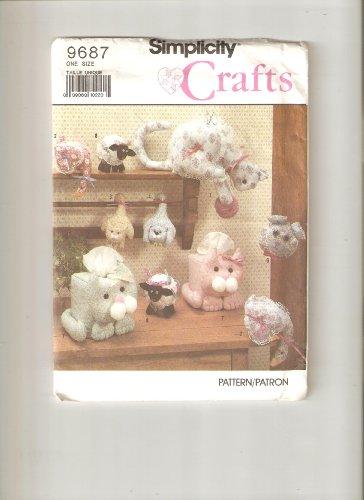 Simplicity 9687 - Cat, Goose, Bear, Lamb Bazaar Craft (Lamb Door Hanger)
