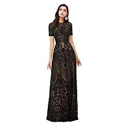 Black-2 Long Sequin Mermaid Dress