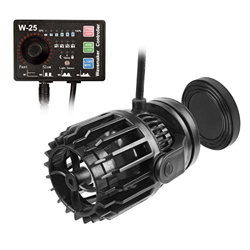 GBGS 2113GPH Powerful Wavemaker Controllable, 4 Patterns of Water Movement, Adjustable Water Flow, Feeding Features and Light Sensor, Magnet Mount Base Suction for Reef Tank Aquarium Circulation Pond