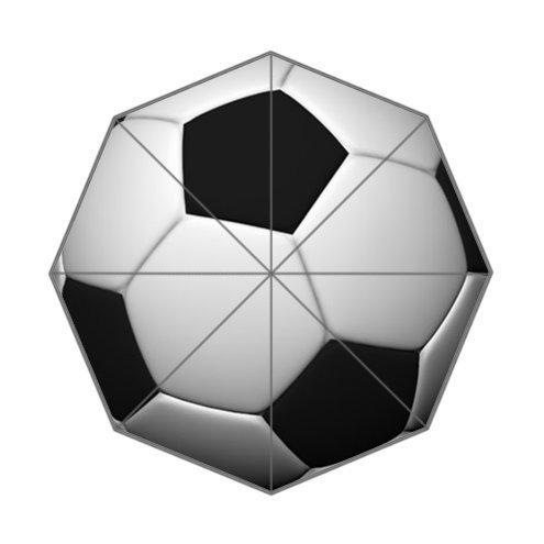 Custom Soccer Ball Umbrella -Auto Foldable Umbrella 100% polyester
