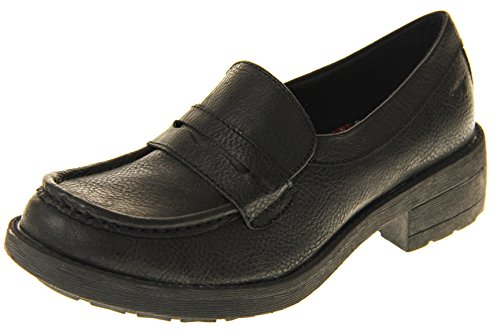 Womens Rocket Dog Black Brown High Quality Slip On Chunky Loafers Size 5 Black Kvt8ZUf