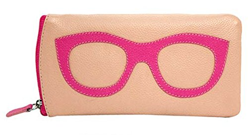 - ili New York 6462 Leather Eyeglass Case (Pink/Hot Pink)