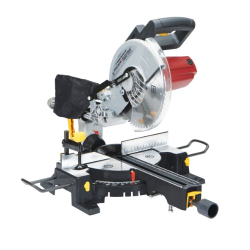 10 Inch Sliding Compound Miter Saw with 45 Degree Bevel and Dust Bag, Extension Bars and Table Clamp in USA