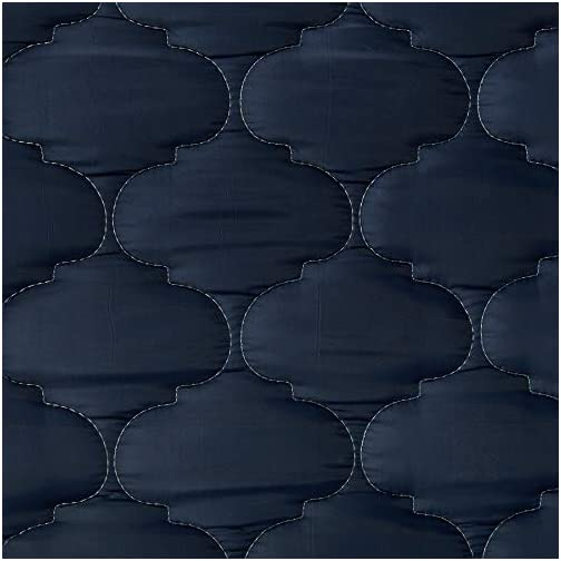 AC Pacific 6″ Foam Mattress Covered in a Stylish Navy Blue Waterproof Fabric, Twin, Navy Blue
