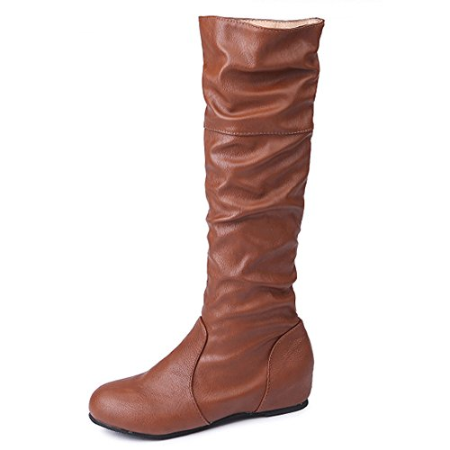 Plana largas Zarupeng Martin Color Mujeres s Boots Invierno Botas BnYY5zqw