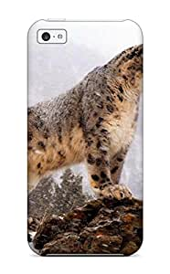 Best 5400268K62017099 New Snap-on Skin Case Cover Compatible With Iphone 5c- Snow Leopard Pictures