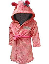 Little Girls Plush Bathrobe Robe Pajamas, Toddler Sizes 2T-4T