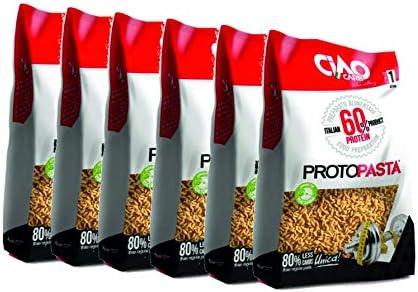 Proteinreis Proteinpaste 6 Packungen (6 x 500 g) sehr hoher Proteingehalt (60 %) Ciao Carb